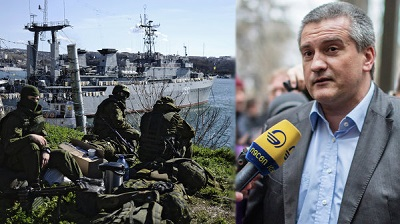 Aksiónov y las fuerzas armadas de Crimea.jpg