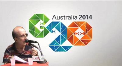 Manlio Dinucci y el G20 Australia 2014.jpg