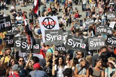 Protesta contra amenazas de atacar Siria.jpg